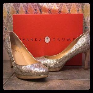 Silver/Gold Ivanka Trump Heels